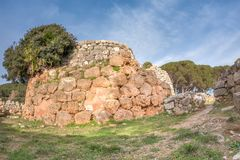 A view of nuragic complex of Palmavera. A view of nuragic village of Palmavera in north-west Sardinia Stock Photo