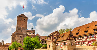 View of Nuremberg Castle in Bavaria Royalty Free Stock Photography