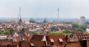 View of Nuremberg from the castle Stock Image