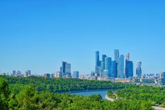 A view of the Nuture and Building Moscow cityscape. royalty free stock image