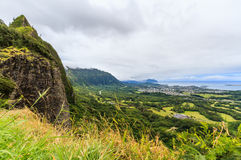 View from the Nuuanu Pali lookout Stock Photos