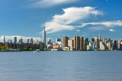 View of NY in the early evening Royalty Free Stock Image