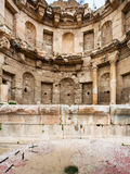 View of nymphaeum in Jerash ancient Gerasa town Stock Photography