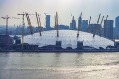 View of the O2 Arena Structure and river Thames Royalty Free Stock Photo