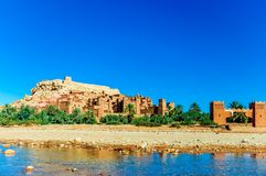Oaisis Ait Ben Haddou in Morocco stock photography