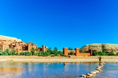 Oaisis Ait Ben Haddou in Morocco royalty free stock photo