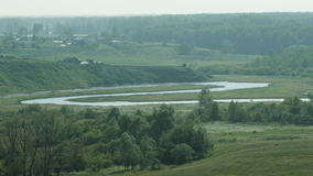 View of the Ob River Band from the high bank in Summer stock footage