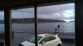 View of Oban bay from the conservatory royalty free stock image