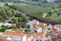 View of Obidos. View of the medieval town of Obidos in Portugal Royalty Free Stock Photo