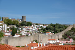 View of Obidos Stock Photography