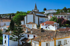 View of Obidos, Portugal Royalty Free Stock Photography