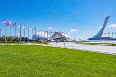 View of objects of Olympic park. Stock Images