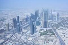 Dubai View from the observation deck Burj Kalifa Stock Images