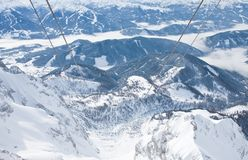 View from the observation deck. Dachstein .Austria Royalty Free Stock Photo