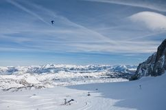View from the observation deck. Dachstein .Austria Royalty Free Stock Photos