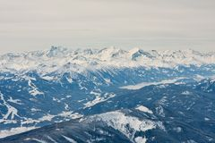 View from  observation deck on  Dachstein glacier Stock Photos