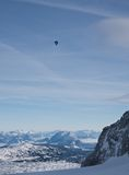 View from  observation deck on  Dachstein glacier Royalty Free Stock Photo
