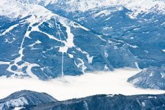 View from  observation deck on  Dachstein glacier Stock Images