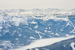 View from  observation deck on  Dachstein glacier Stock Photo