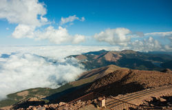 View from observation deck at the top of Pike Peak, Colorado Spr Royalty Free Stock Photography