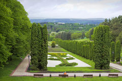 View from the observation deck of the Valley of roses.Park of Kislovodsk.  royalty free stock photography