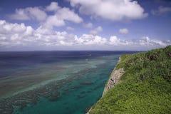 A view from the observation stand of Funagisaginavanata. At Irabujima, Okinawa Prefecture Royalty Free Stock Image