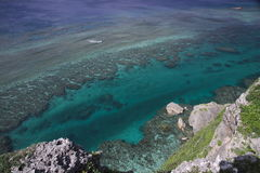 A view from the observation stand of Funagisaginavanata at Irabujima. Okinawa Prefecture Royalty Free Stock Photo