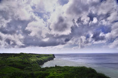A view from the observation stand of Funagisaginavanata at Irabujima. Okinawa Prefecture royalty free stock photography