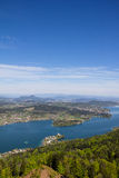 View From Observation Tower Pyramidenkogel To Lake Woerth Royalty Free Stock Photo