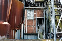 View at an obsolete coking plant stock images