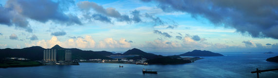 View of the Ocean. Panorama view of the sea. Shoot in Hong Kong royalty free stock image