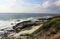View of the ocean. Along a rocky shoreline Royalty Free Stock Photography
