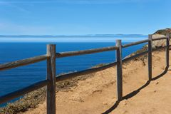 View of the ocean from the cliff of Cape Roca stock images