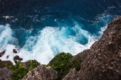 View of the Ocean from a cliff Royalty Free Stock Image