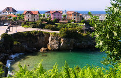 View of  ocean coast at Llanes.  Asturias Stock Image