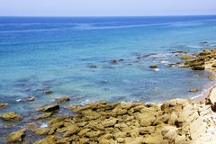 View of ocean in conil. View of ocean in andalusian village called conil Royalty Free Stock Photos