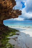 View of the ocean on the island Zanzibar Royalty Free Stock Image