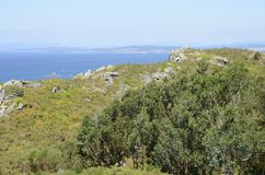 View of the ocean from the Mountain of Facho Royalty Free Stock Images