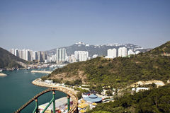 View from ocean park in Hong Kong royalty free stock image