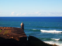 View on the ocean. Picture of the ocean from old fortress Royalty Free Stock Image