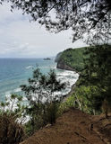 View of the Ocean from Polulu Trail Royalty Free Stock Photography