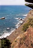 View of the Ocean and Shoreline. Big Sur, California Stock Photography