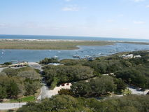 View of Ocean in St. Augustine. View from a Lighthouse in St. Augustine, Florida stock photography