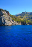 View from ocean to Sá Calobra beach Royalty Free Stock Photography