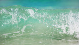 The view on the ocean water with waves Royalty Free Stock Photo