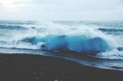 View of Ocean Waves on Shore at Daytime Stock Photos