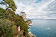 View of Oceanographic Museum in Monaco Royalty Free Stock Photos