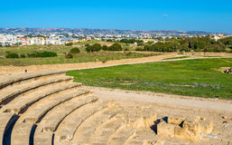 View from Odeon Amphitheatre in Paphos Royalty Free Stock Photo