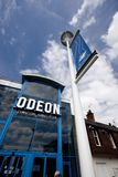 A view of the Odeon Cinema and the Brayford Pool, Lincoln, Lincolnshire, United Kingdom -August 2009 royalty free stock photos