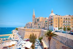 View Of A Corner Of Il-Belt Valletta, Capital Of Malta Royalty Free Stock Photography